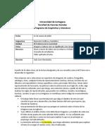 Guía de Trabajo número 2. Expresión Gráfica y S