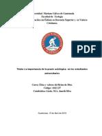 Proyecto INTEGRADO. Praxis axiológica