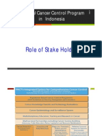 National Cancer Control Program in Indonesia, Role of Stake Holder