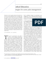 Non-Opioid Strategies for Acute Pain Management