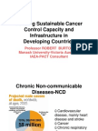 Building Sustainable Cancer Control Capacity and Infrastructure in Developing Countries