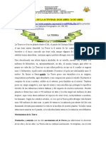 LA TIERRA GUIA  DE ACTIVIDADES GRADOS SEXTOS  FECHA DE ENTREGA 2O ABRIL- 24 DE ABRIL