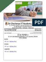 01-12-19_Sri Chaitanya-Sr.Chaina-I_L-I & II_Jee-Adv_2018-P2_CTA-6_QP