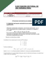 3.1 Definicion de función vectorial de una variable real