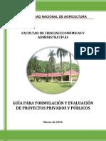 GUÍA PARA FORMULACIÓN Y EVALUACIÓN DE PROYECTOS PRIVADOS Y PÚBLICOS