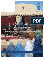 UNDP-AF-18022014-Local Conflict Management afghanistan refernce 1