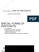 SPECIAL FORMS OF PERITONITIS