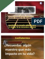 GIEZI, Erro El Blanco