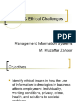 Security and Ethical Challenges in MIS