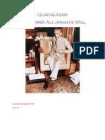 Muhammad Ali Jinnah's Will