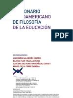 Sujeto Diccionario Iberoamericano de Filosofía de La Educación