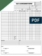 Daily Accomplishment Form (DAR) - Rev0