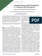 Proactive Environmental Strategy and Environmental Performance