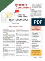 Martiri in Cina