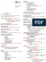 Long Lecture Examination I for MLS 111 Summary