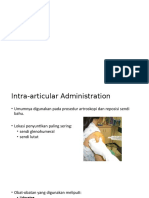 Intra-articular dan Intrapleural Analgesia