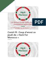 Hackathon for Morroco Pour Resoudree Les Probleme Eco Et Socio