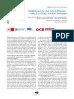 AMS Studie Digitalisierung, Produktivität und Beschäftigung Streissler-Fuehrer GPA-djp