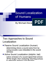 Sound Localization of Humans