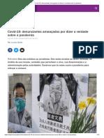 Covid-19_ denunciantes ameaçados por dizer a verdade sobre a pandemia