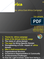 "DotAfrica Proposal to Africa, AITEC 2010 - Launch of the ""Yes2dotAfrica"" Campaign - Kenya"