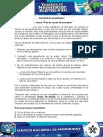 """Evidencia 10 Sesión virtual """"Plan de acción de mercadeo"""""""