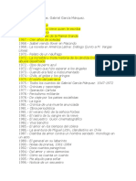 Cronología de obras GGM