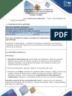 Guía de actividades y rúbrica de evaluación – Tarea  1 Generalidades del dibujo de ingeniería