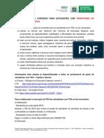 ORIENTAÇÕES PARA PROFESSORES - ADEQUAÇÕES DE CONTEÚDOS