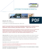 Invitation to Attend Tourism Summit