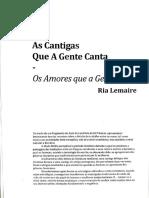 As Cantigas Que A Gente Canta - Os Amores Que A Gente Quer - Ria Lemaire_1