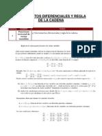 4.7 Incrementos Diferenciales y Regla de La Cadena.