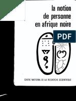 BASTIDE, Roger - Le principe d'individuation (contribution à une philosophie africaine)
