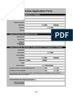 Bakery Franchise Application Form Template