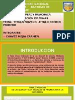 TITULO NOVENO- TITULO DECIMO PRIMERO LEGISLACION