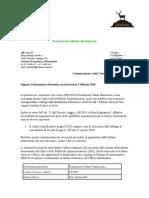 Comunicazione ai fornitori FOM