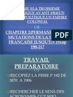 PERMANENCES ET MUTATIONS DE LA SOCIETE FRANCAISE (1870-1914)