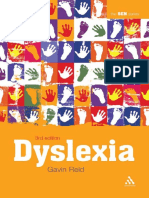 Dyslexia (Special Educational Needs) by Gavin Reid