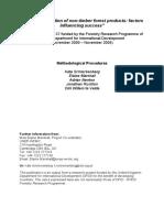Schreckenberg K et al 2005 Commercialization of NTFP