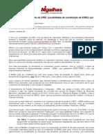 Mudança de entendimento do DREI_ possibilidade de constituição de EIRELI por pessoa jurídica - Migalhas de Peso