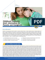 childhood traumatic grief information for parents and caregivers 1