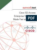 CiscoSD-AccessTested