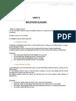 UNIT 6 RELATIVE CLAUSES