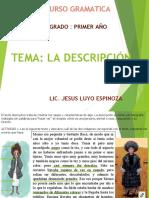 GRAMATICA TEXTOS_DESCRIPTIVOS