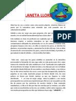CUENTO DE MAJU EL PLANETA LLORA