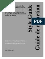European Pharmacopoeia Style Guide July 2011