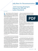 Royalty Rates And Licensing Strategies For Essential Patents On LTE (4G) Telecommunication Standards