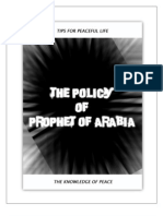 Policy of Prophet of Arabia