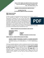 Modelo de Demanda de Declaración de Unión de Hecho - Autor José María Pacori Cari