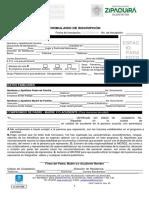 Formulario de inscripción IMCRDZ 2020